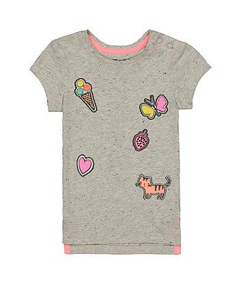 Mothercare Grey Applique T-Shirt