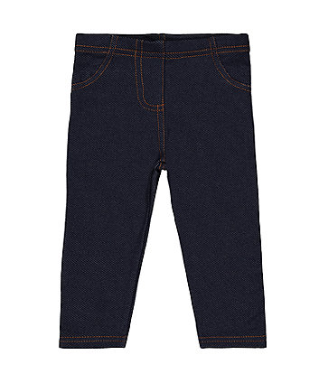 Mothercare Dark-Wash Denim-Look Jeggings