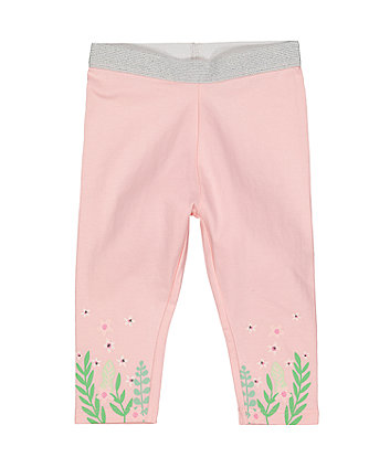Mothercare Pink Floral Leggings