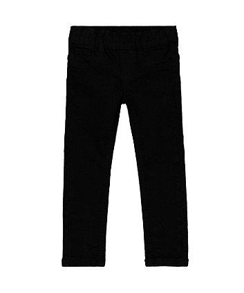 Black Denim-Look Jeggings