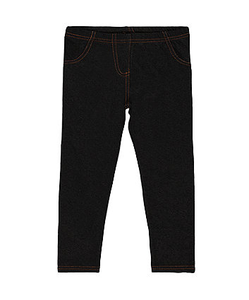 Mothercare Black Denim-Look Jeggings