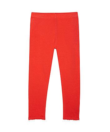 Red Crochet Frill Leggings