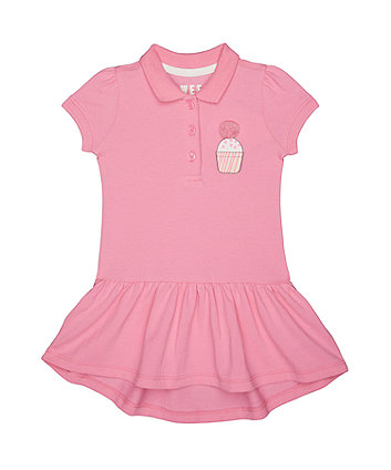 Pink Cupcake Pique Polo Dress