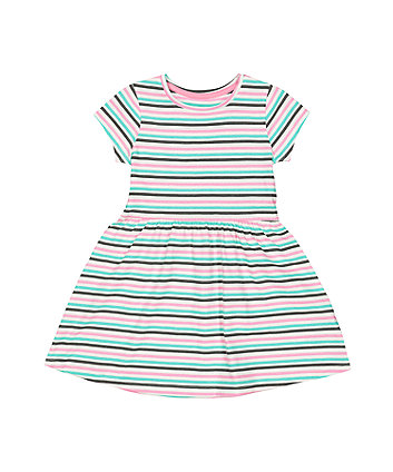 Mothercare Multicoloured Stripe Waisted Dress