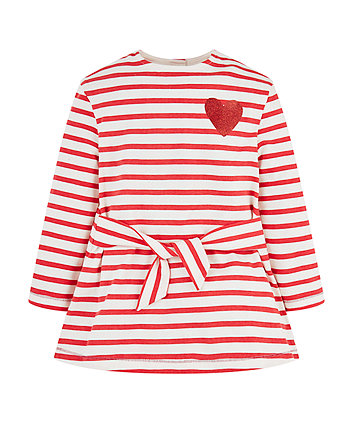 Red Stripe Heart Dress