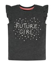 Future Girl Grey Frill T-Shirt