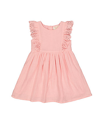 Mothercare Pink Broderie Dress