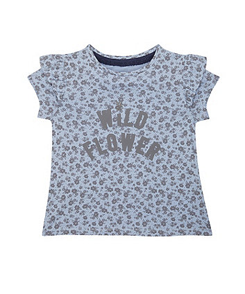 Mothercare Blue Floral T-Shirt