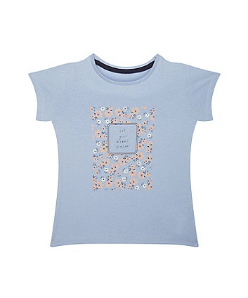 Dreams Blossom Floral Blue T-Shirt