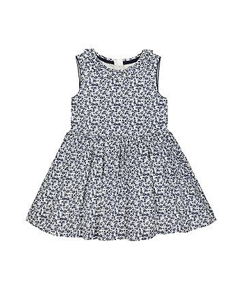 Mothercare Floral Blue Skater Dress
