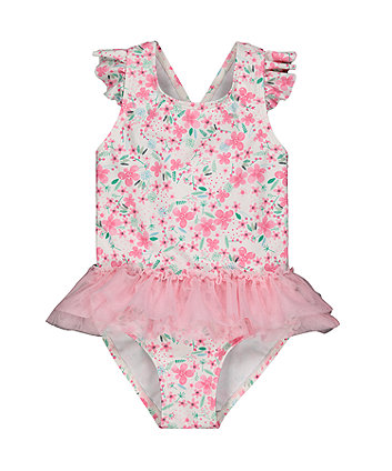 Mothercare Floral Pink Tutu Swimsuit