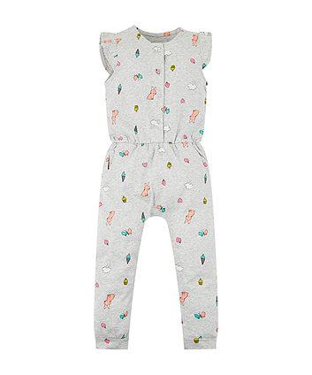 Grey Neon Bunny Jumpsuit