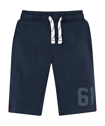 Navy Side-Stripe Shorts