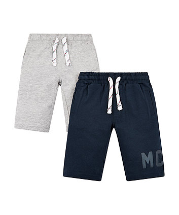 Grey And Navy Mc Shorts - 2 Pack