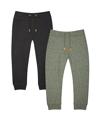 Black And Khaki Joggers - 2 Pack