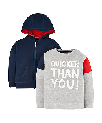 Sweat Top And Hoodie - 2 Pack