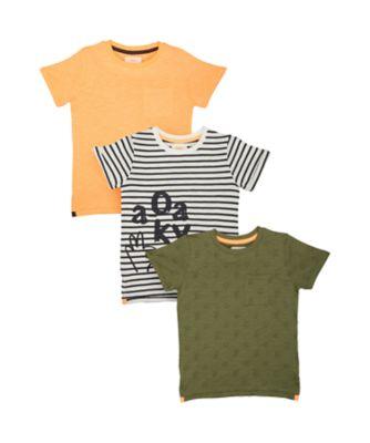 Mothercare Grey Checked And T-Shirt Set Bambino