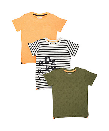 Mothercare Okay T-Shirts - 3 Pack