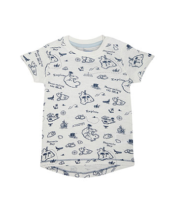 Mothercare White Sailing T-Shirt