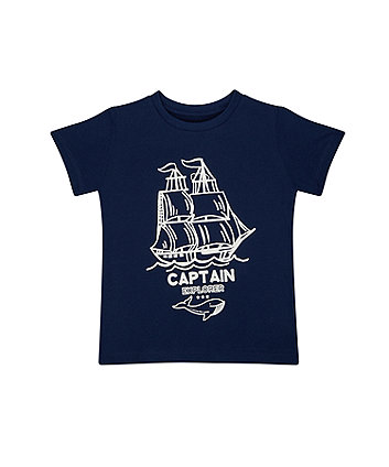 Mothercare Light Blue Captain Explorer T-Shirt