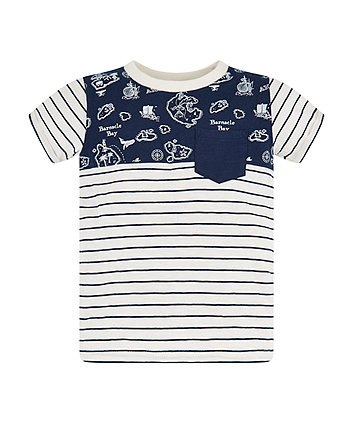 Mothercare Navy Stripe T-Shirt