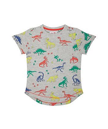 Mothercare Dinosaur Grey T-Shirt