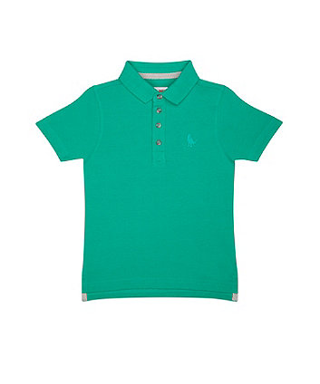 Green Pique Polo Shirt
