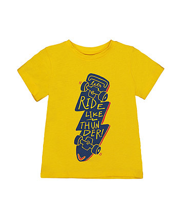 Thunderbolt Skate Yellow T-Shirt
