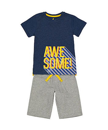 Awesome T-Shirt And Shorts Set