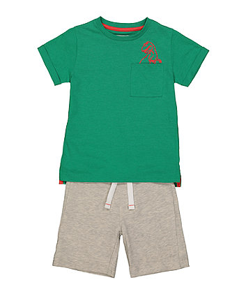 Mothercare T-Rex T-Shirt And Shorts Sets