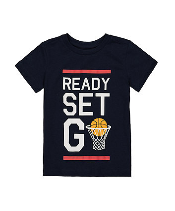 Navy Basketball T-Shirt