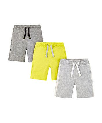 Grey And Green Shorts - 3 Pack