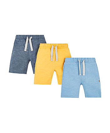 Mothercare Yellow And Blue Striped Shorts - 2 Pack