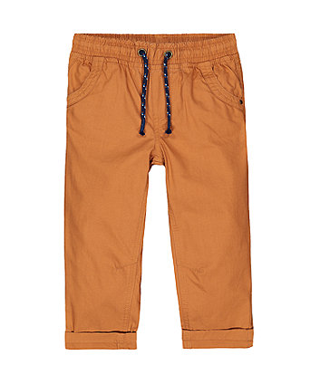 Mothercare Tan Woven Trousers
