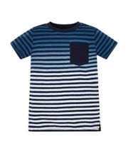 Mothercare Striped t-shirt with blue and white pockets