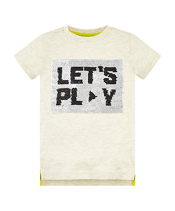 Mothercare Lets Play Sequin T-Shirt