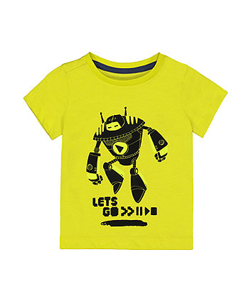 Mothercare Lets Go Robot T-Shirt