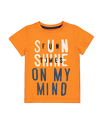 Mothercare Orange Sun Shine T-Shirt