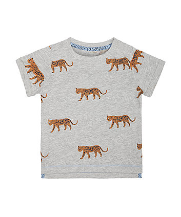 Grey Leopard T-Shirt