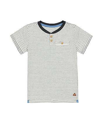 Mothercare Striped Pocket T-Shirt
