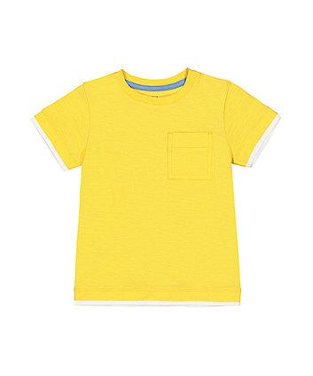 Mothercare Yellow Mock Layer T-Shirt