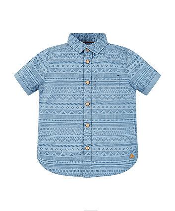 Blue Aztec Print Shirt