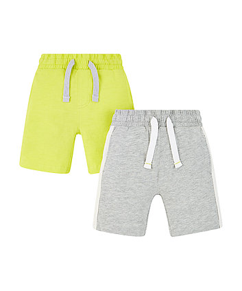 Grey And Lime Shorts - 2 Pack