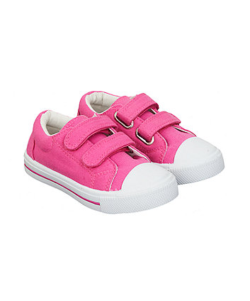 Mothercare Plain Hot Pink Trainers