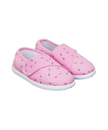 Mothercare Cat And Bunny Canvas Pumps
