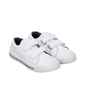 Mothercare Plain White Trainers