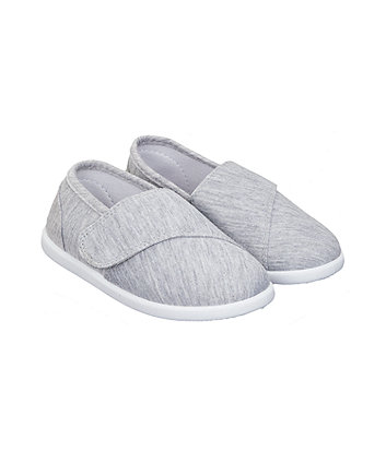 Mothercare Grey Jersey Canvas Pumps