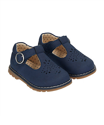 First Walker Navy T-Bar Shoes (Size - 6 jnr)