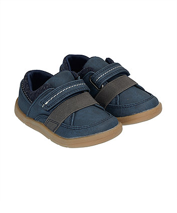 Mothercare First Walker Navy Trainer Shoes
