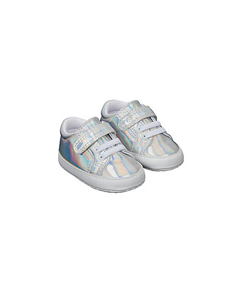 Silver Holographic Pram Shoes